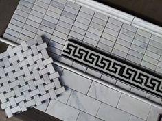 Bathroom Tile - Carrara tile combo