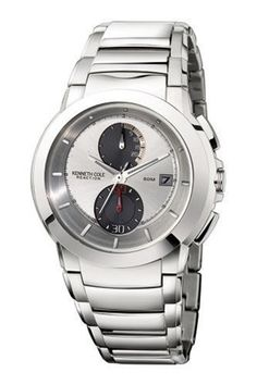 Kenneth Cole Men's KC3668 Reaction Silver Dial Silver-Tone Bracelet Watch Kenneth Cole REACTION. $89.95. Stainless-steel case; Silver white dial; Date function. Quality Japanese-Quartz movement. Mineral crystal. Save 49% Off!