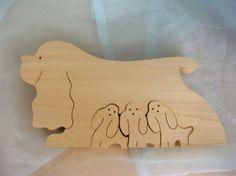 Sabu Oguro puzzle by Naef : Spaniel w/ pups