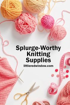 Make your next knitting project a little more special and enjoyable with these splurge-worthy knitting supplies! Snood Knitting Pattern, Fair Isle Knitting Patterns, Knitting Blogs, Knitting Projects, Diy Knitting Accessories, Yarn Organization, Crochet Tools, Knitting Supplies, Yarn Crafts