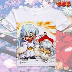 Inuyasha T-shirt Anime Sesshoumaru Short Sleeve T shirt Moneca Stori Breathable Tshirt Fashion Men Women Top Tees