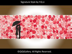 Romantic Painting Original Abstract Painting  by QiQiGallery, $195.00