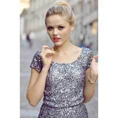 SILVER GLITTERS Kayture ❤ liked on Polyvore featuring kayture, kristina bazan, models, backgrounds and people