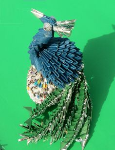 3D origami peacock by CathyTsao on Etsy