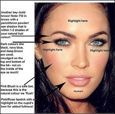 The Look: Megan Fox - Click on picture...there is a really good article about her makeup