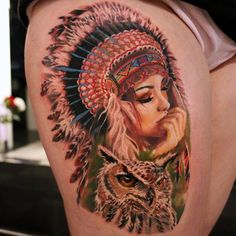 A tattoo piece by artist Moni Marino. | Intenze ink