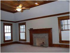 Wood trim w ceiling Oak Trim, Grey Room, Ceiling, Rooms, Future, Bedroom, Ideas, Home Decor, Bedrooms