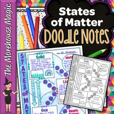 Looking for a fun, engaging instructional resource for the states of matter? Why not give doodle notes a try? This Doodle Note will aid in student concept retention, focus, creativity, and engagement. Students will use this graphic organizer