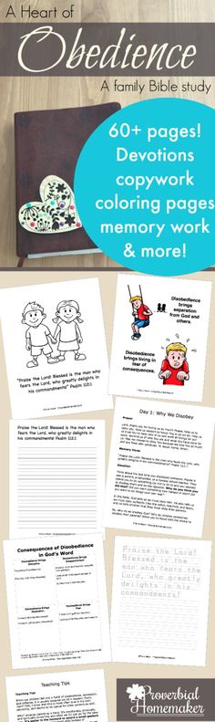 Teach your children obedience with this great faith-filled homeschool resource from Proverbial Homemaker. #aff