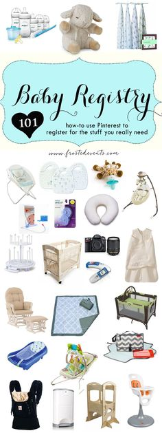 Use Pinterest to bookmark all the things you really want and need. Don't get stuck registering from just the big baby depots. Tips and advice for best baby products real moms recommend via Frosted Events @frostedevents