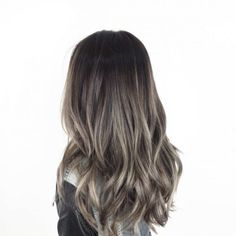 Long Wavy Ash-Brown Balayage - 20 Light Brown Hair Color Ideas for Your New Look - The Trending Hairstyle Brown Hair Balayage, Hair Color Balayage, Ombre Hair, Balayage Highlights, Balayage Straight, Ash Brown Bayalage, Ash Brown Highlights, Brunette Highlights, Color Highlights
