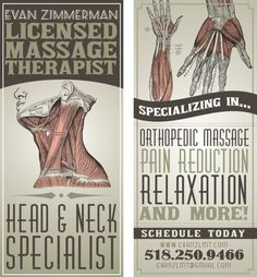 Massage Therapist Promotion by Ruby Whitney, via Behance