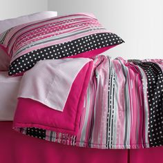 Pink multi-color dots bedding