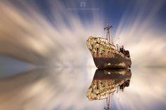 Shipwreck Dimitrios last version by Atha_Pana Shipwreck, Abandoned Places, Greece, History, Animals, Image, Boats, Objects, Ships