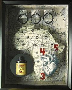 Joseph Cornell Elements - Greg's  Mixed Media Gallery #africa #shadowbox #josephcornell