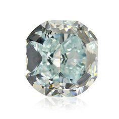 1.10 Carat Fancy Green Blue Loose Diamond Natural Color Cushion Cut GIA Cert