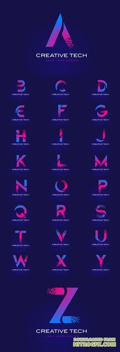 Vector Initial Letter Logos Design with Digital Pixels in Bl.- Vector Initial Letter Logos Design with Digital Pixels in Blue and Purple – Vector Initial Letter Logos Design with Digital Pixels in Blue and Purple – - Dj Logo, Neon Logo, Logo Branding, Typo Logo, Typography Letters, Graphic Design Typography, Lettering Design, Logo Type Design, Initial Logo
