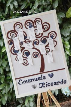 """Tableau de marriage """"albero"""" http://madorifabomboniere.blogspot.it/"""