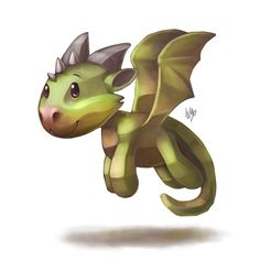 Low poly dragon by Silverfox5213.deviantart.com on @DeviantArt