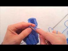 Comment tricoter des bas avec un talon double (nouvelle version) - YouTube