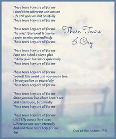 ♥ GRIEF SHARE: Plantation United Methodist Church, 1001 NW 70 Avenue, Plantation, FL 33313. (954) 584-7500. ♥ These Tears I Cry