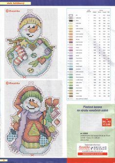 Colourful Snowmen, plastic canvas, page 2/3