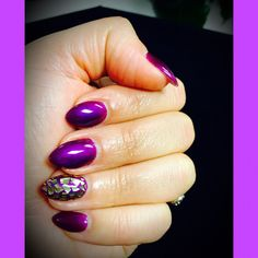 Stiletto Nails - Nail Art - Nail Foils - Purple Nails - Nails by Jenna