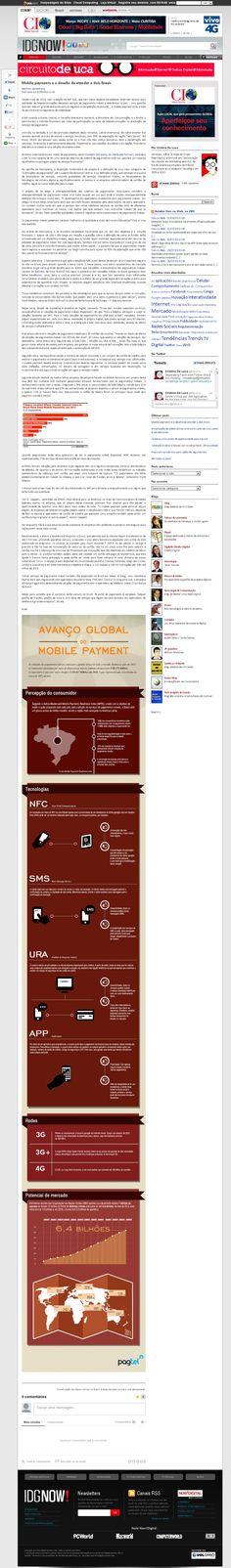 Título: Mobile payments e o desafio de atender a dois Brasis; Veículo: IDG NOW!; Data: 02/08/2013; Cliente: Pagtel.