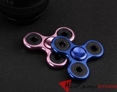 Metal Deluxe Tri-Spinner Fidget Spinner Hand Spinner Toy Finger Gyro Torqbar EDC Sensory for Autism and ADHD Kids/Adult Funny Anti Stress Toy