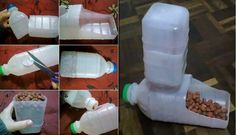 How to DIY Homemade Pet Feeder from Plastic Bottles | www.FabArtDIY.com LIKE Us on Facebook ==> https://www.facebook.com/FabArtDIY