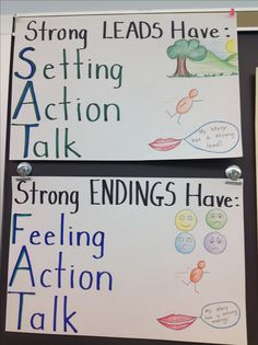 Posters to support lucy calkins' second grade narrative writing