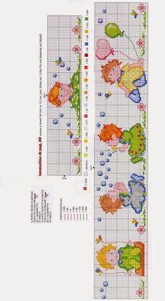 Punto croce - Schemi e Ricami gratuiti: Tanti schemi punto croce per bambini- lenzuolini e culle