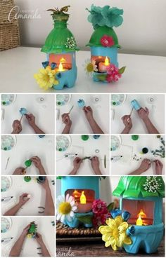 How to Make Plastic Bottle Fairy House Night Lights