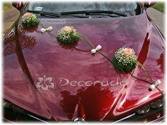 Huwelijks auto versiering Weddingcar Decoration