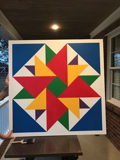4' x 4' Double Aster Barn Quilt