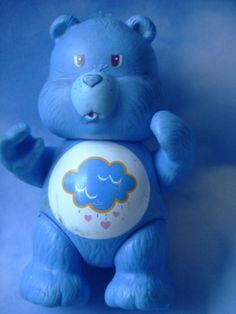 Vintage CARE BEAR  Grumpy  bear.