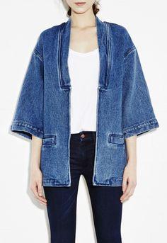 Indigo denim kimono jacket by MiH