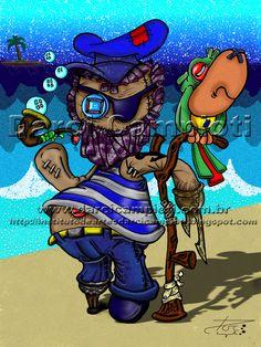 Capitão  (boneco de pano) - Criação: Darci Campioti visite: www.institutodeartesdarcicampioti.blogspot.com.br