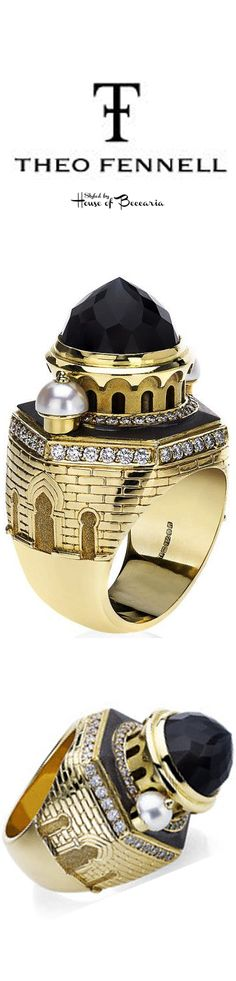 ~Theo Fennell Gold & Pearl Eastern Castle Ring | House of Beccaria