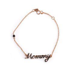 Βραχιόλι Mommy  Al'oro ροζ χρυσό κ14 ζιργκόν Gold Necklace, Jewels, Bracelets, Gold Pendant Necklace, Jewerly, Bracelet, Gemstones, Fine Jewelry, Gem