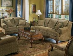 Living Room Designs In Country Style With Brown Furniture Sets Picture Part 35