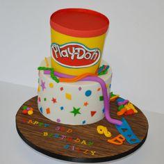 Play-Doh birthday cake - by krumblies @ CakesDecor.com - cake decorating website
