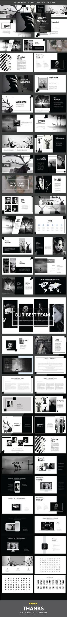 Lucky #Number #Presentation Templates - PowerPoint Templates Presentation Templates