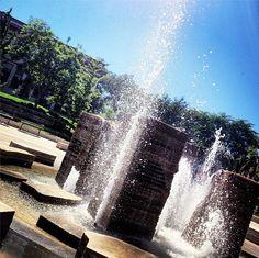 Splish, splash! The Marion Halfacre Fountain was captured by alumna Sheri Lehman '11.