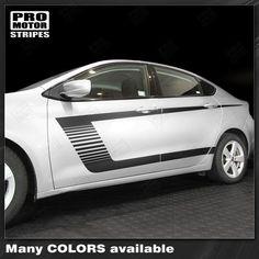 Dodge Dart 2013-2018 Side Accent Triple Stripes Decals Choose Color