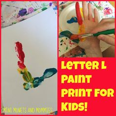 Kids can learn left from right and the letter L in one paint print art activity!
