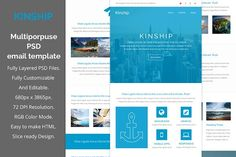 Kinship-Multiporpuse email template by QuickArtisan on @creativemarket