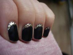 black silver nails