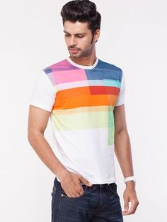 Lee Colour Block Tee Shirt available on koovs.com Mens Tee Shirts, Polo Shirt, T Shirt, Mens Suits, Polo Ralph Lauren, Colour Block, Mens Fashion, Sweatshirts, Tops