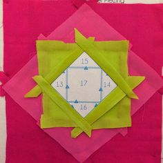 Sew Much Like Mom: Paperless Paper Piecing Tutorial: A Square in a Square, Squared